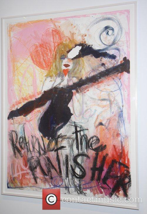 Art work Courtney love unveils her artwork 'And...