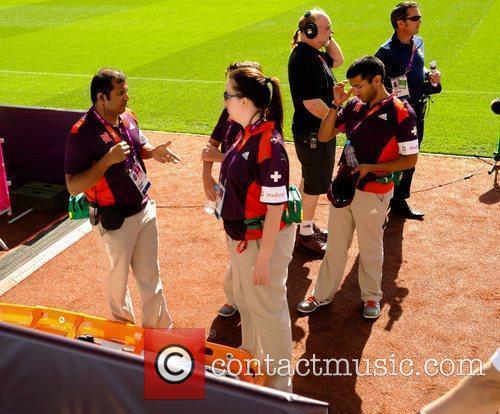 Atmosphere Olympic Football Women's Preliminary game between Japan...