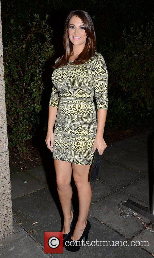 Natasha Giggs outside the RTE studios after appearing...