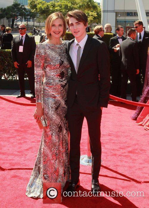 Brenda Strong and her son Zakery Henri 2012...