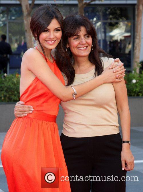 Victoria Justice and her mother 2012 Creative Arts...