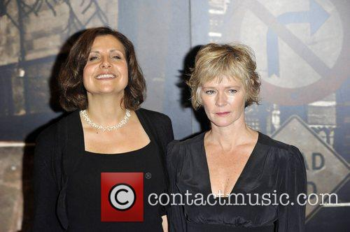 Rebecca Front and Clare Holman,  at the...
