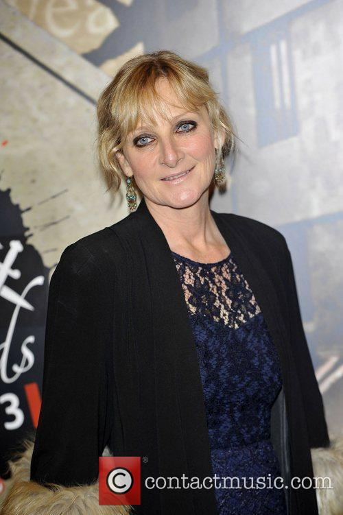 Lesley Sharp,  at the Specsavers Crime thriller...