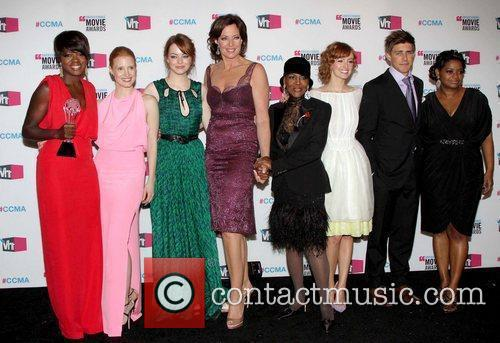 Viola Davis, Allison Janney, Chris Lowell, Cicely Tyson, Emma Stone, Jessica Chastain and Octavia Spencer 2
