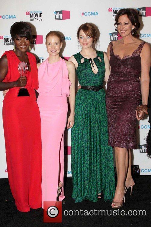 Viola Davis, Allison Janney, Emma Stone and Jessica Chastain 3