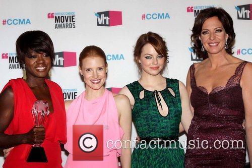 Viola Davis, Allison Janney, Emma Stone and Jessica Chastain 4