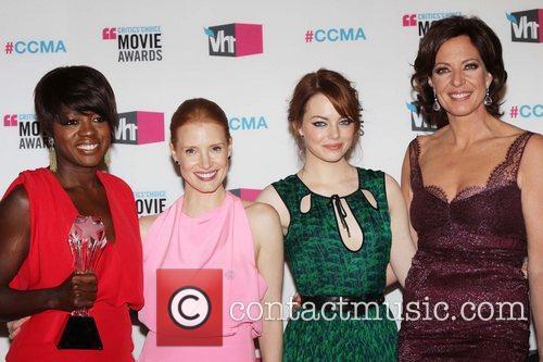 Viola Davis, Allison Janney, Emma Stone and Jessica Chastain 7