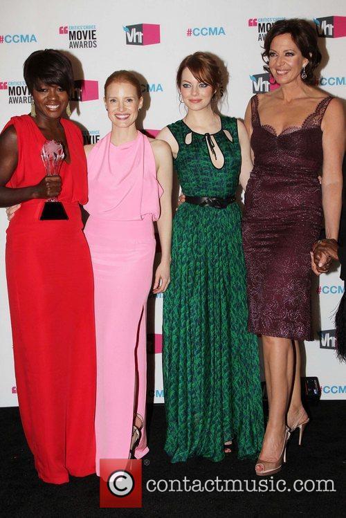 Viola Davis, Allison Janney, Emma Stone and Jessica Chastain 8