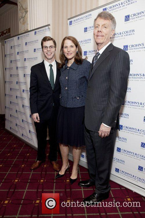 Honoree Diane Goldman with son Robbie and husband...