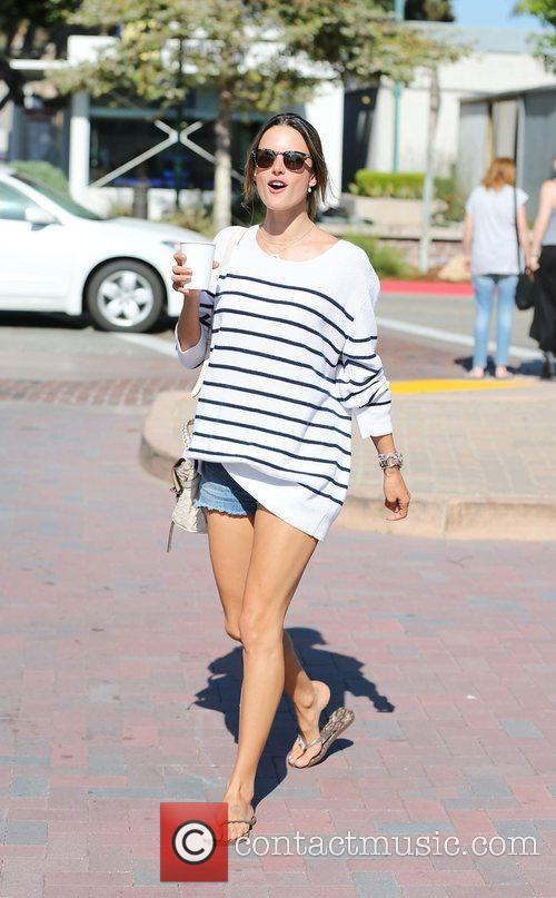 Alessandra Ambrosio grabs a coffee at the Cross...