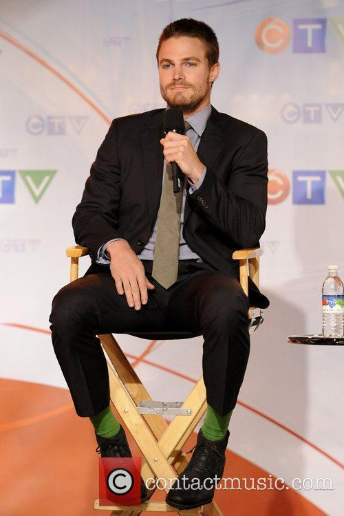 Stephen Amell  CTV Upfront 2012 press conference....