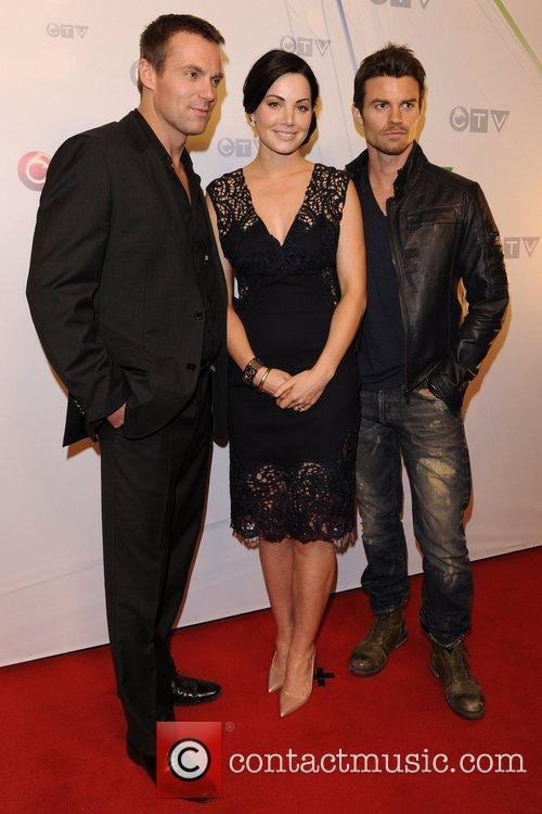 Michael Shanks, Daniel Gillies and Erica Durance