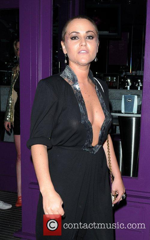 Jaime Winstone with a shaved head leaving Cuckoo...