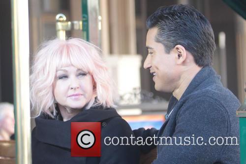 Mario Lopez and Cyndi Lauper 1