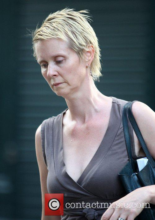 Cynthia Nixon out and about wearing no make...