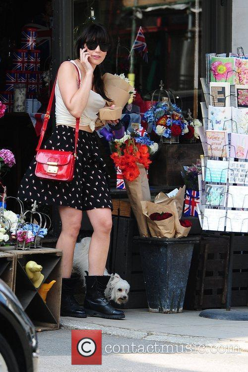 Daisy Lowe  out and about in Primrose...