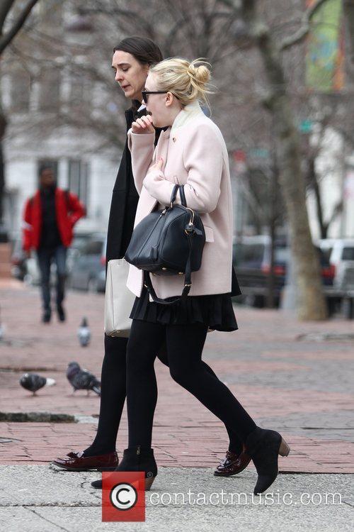 Actress Dakota Fanning taking a stroll in SoHo...