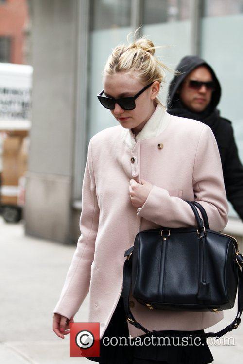 Actress Dakota Fanning taking a stroll in SoHo
