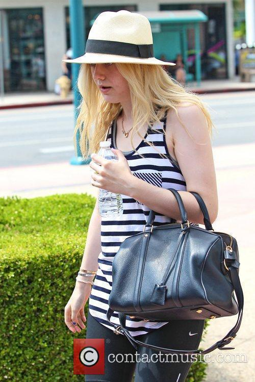 actress dakota fanning seen leaving the gym 5895239
