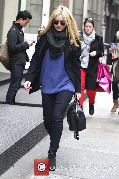 Actress Dakota Fanning  taking a stroll in...