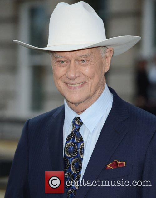 larry hagman at the launch of dallas 4042141