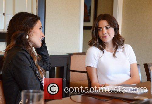 Jordana Brewster and Julie Gonzalo TNT's Dallas Press...