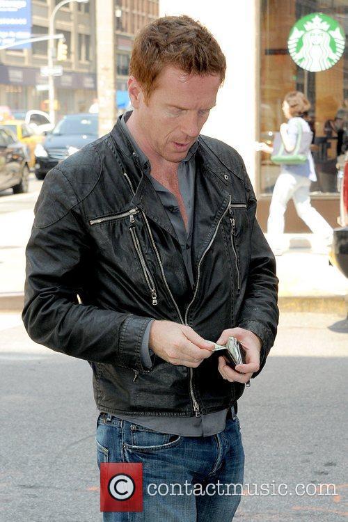 British actor arrives at his Manhattan hotel
