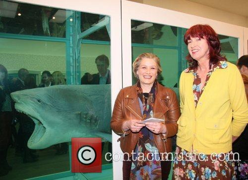 Janet Street-Porter and Guest Damien Hirst Exhibition Private...