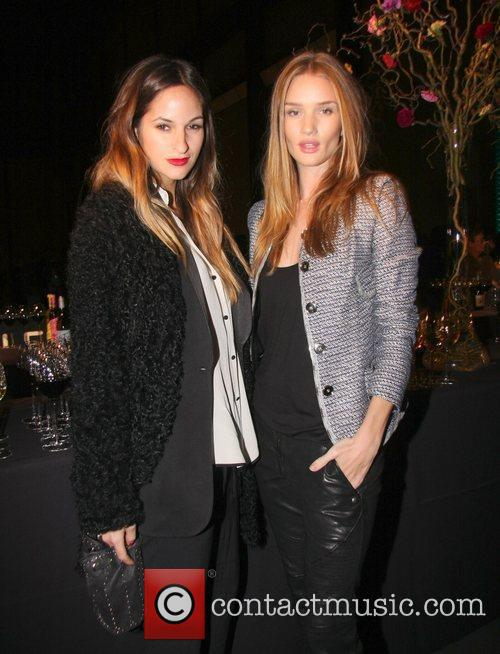 Kimmie Hammerstrong and Rosie Huntington-Whiteley Damien Hirst Exhibition...