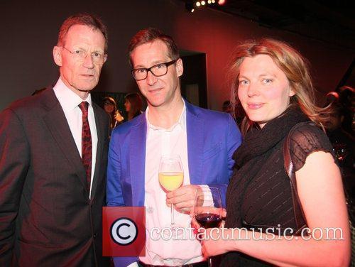 Nicholas Serota, Robert Violet and Melanie Muse Damien...