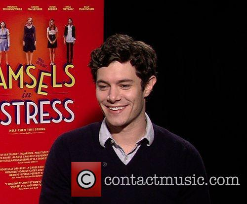 Adam Brody Celebrities promote the new movie 'Damsels...