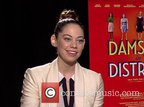 Analeigh Tipton Celebrities promote the new movie 'Damsels...