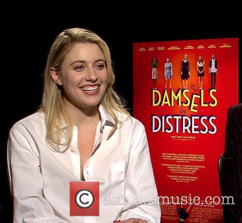 Greta Gerwig Celebrities promote the new movie 'Damsels...