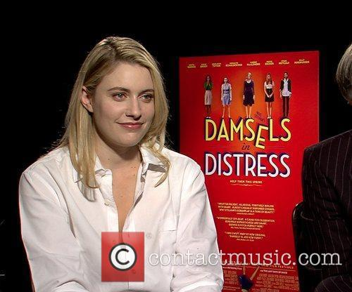 Celebrities promote the new movie 'Damsels In Distress'...