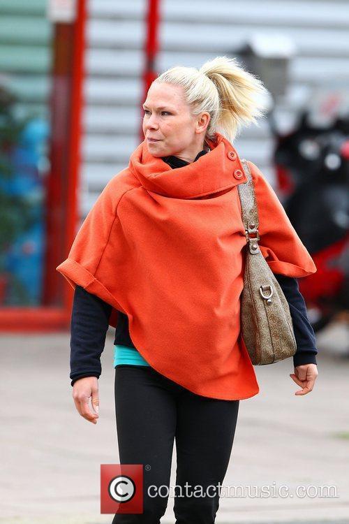 Alexandra Schauman leaving 'Dancing on Ice' rehearsals London,...