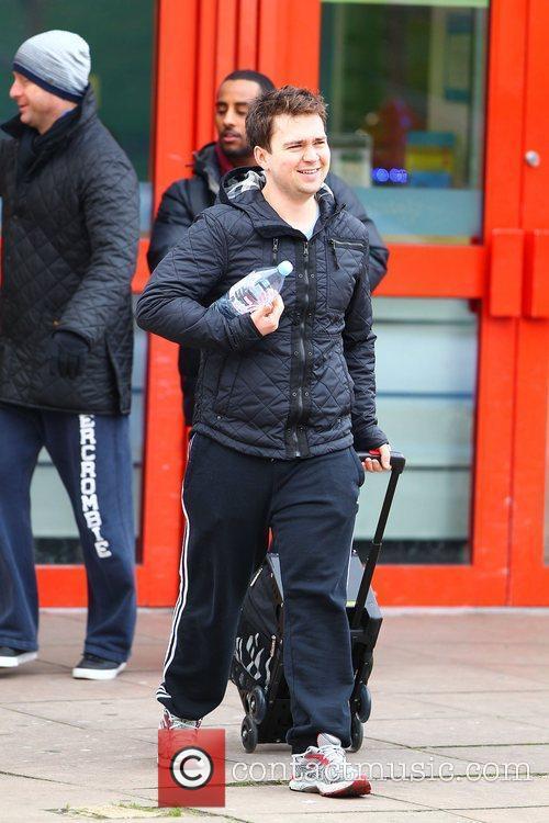 Sam Nixon leaving 'Dancing on Ice' rehearsals London,...