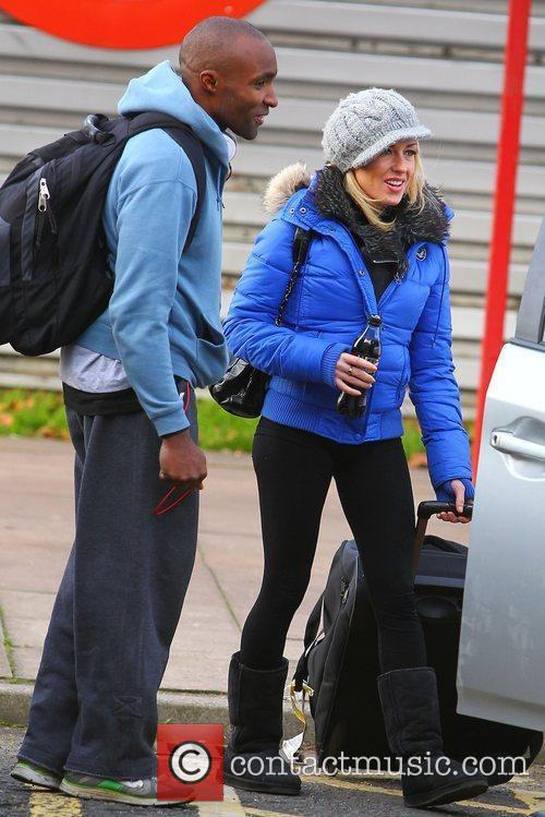 Sebastien Foucan and Brianne Delcourt leaving 'Dancing on...