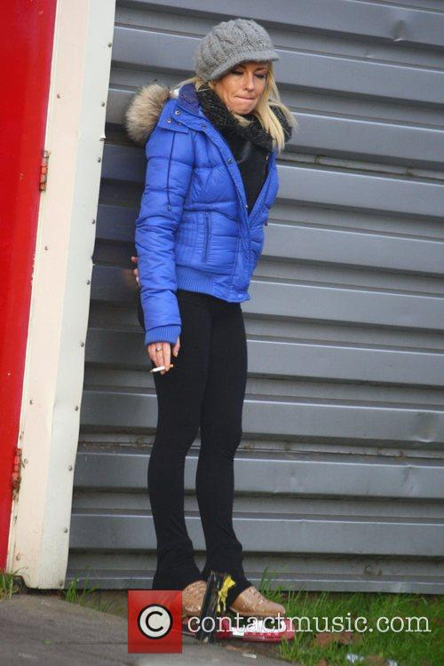Brianne Delcourt leaving 'Dancing on Ice' rehearsals London,...