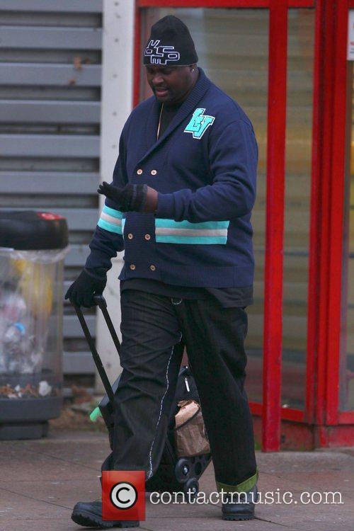 Corey Feldman's security guard leaving 'Dancing on Ice'...