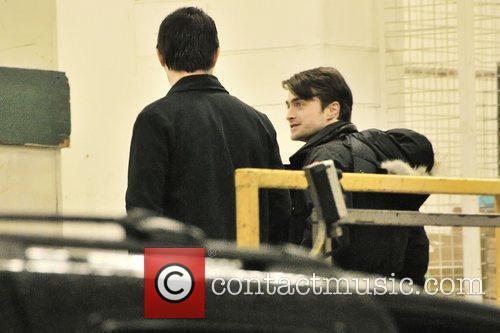 Daniel Radcliffe  arriving at the back entrance...