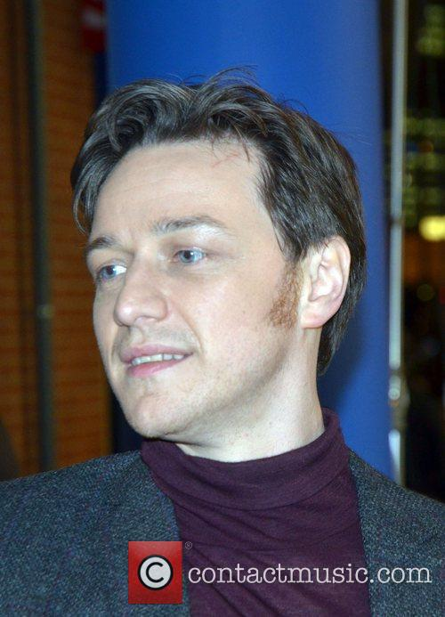 James McAvoy on the set of 'Trance'