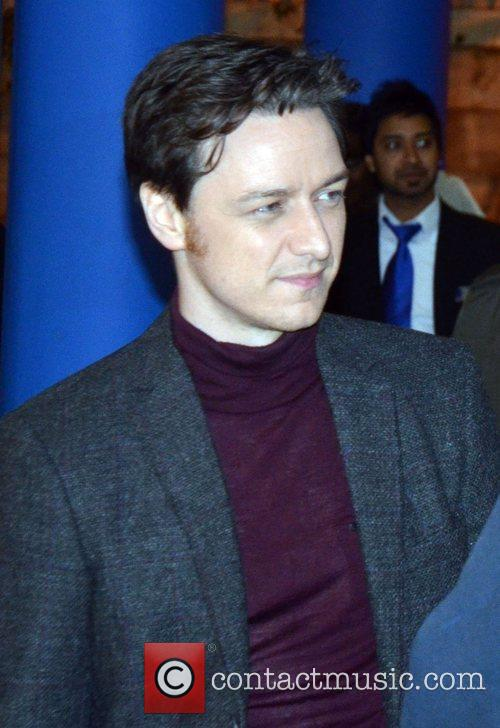 James McAvoy on the set of 'Trance' in...