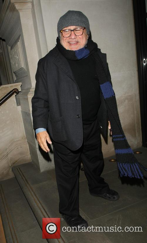 danny devito arriving at his hotel featuring 20026245