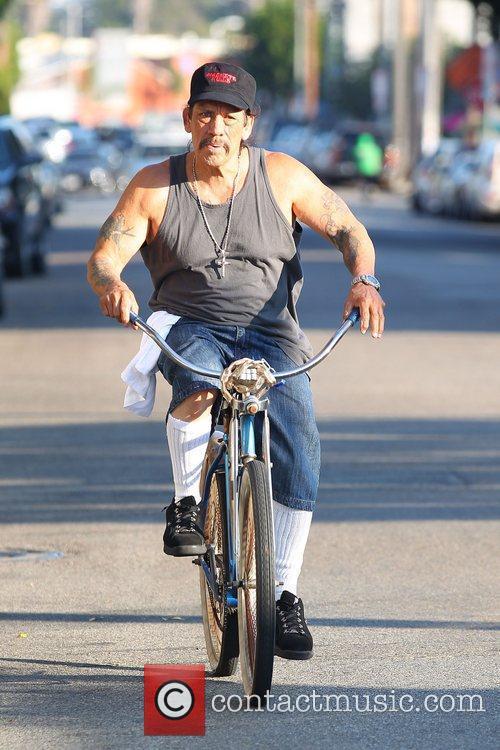 Riding his Classic Beach Cruiser