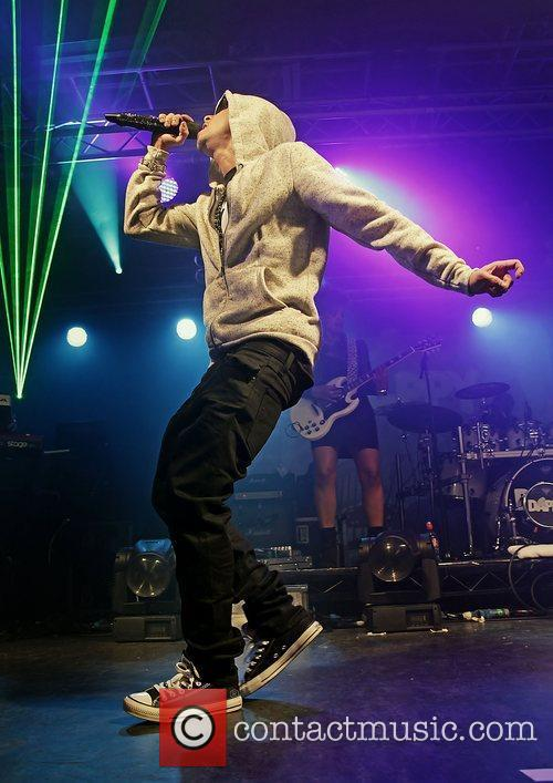 Rapper Dappy aka Costadinos Contostavlos performing at Liverpool...