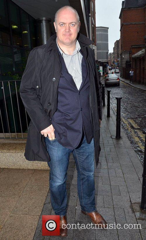 Comedian Dara O'Briain outside the Today FM studios...