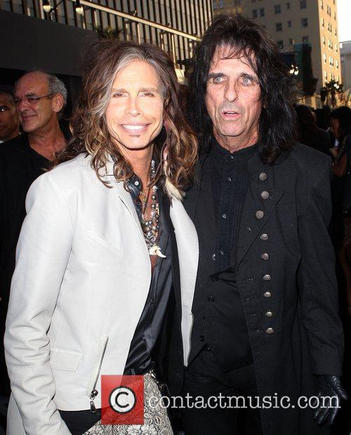 Steven Tyler, Alice Cooper and Grauman's Chinese Theatre 2