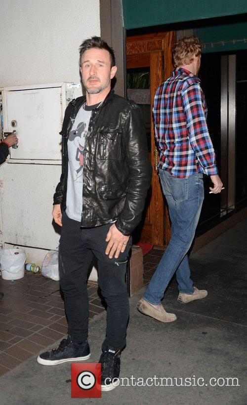 David Arquette outside Madeo restaurant in West Hollywood