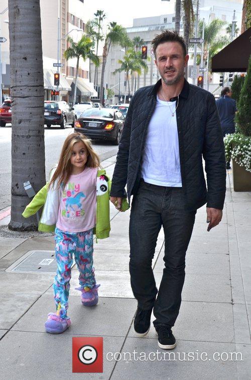 David Arquette  takes his daughter Coco to...