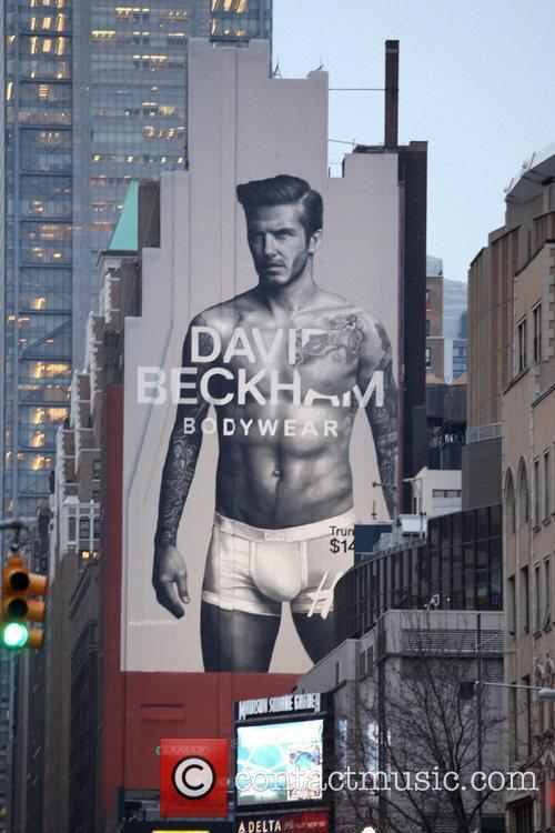 Appears on a giant billboard in Manhattan to...